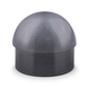 Domed End Cap - Gunmetal Grey - 2