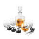 On The Rock Decanter Set with Stainless Steel Chilling Balls - 15 Pieces