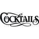 Cocktails 3D Lettering Metal Bar Sign