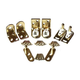 Saloon Door Hinge Set - Brass Finish