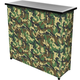 Camouflage Portable Metal Bar Table with Carrying Case
