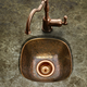 Houzer Schnapps Hammered Copper Undermount Wet Bar & Prep Sink