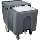 Insulated Ice Caddy with Sliding Cover - 125 lb Capacity