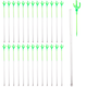 Plastic Cactus Stir Sticks with Cocktail Picks - Pack of 25