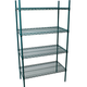 Green Epoxy Cold Storage Wire Shelving Rack Kit - 4 Shelves