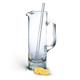 Badash Mouth Blown Crystal Martini Pitcher with Glass Stir Rod - 54 oz