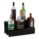 18-inch 2 Tier Liquor Bottle Shelf - Black