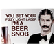 Beer Snob Metal Bar Sign