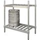 Aluminum Beer Keg Storage Rack - 2 Shelf Unit