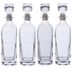 Strauss Glass Liquor Decanter Collection - Set of 4 Bottles