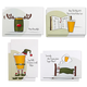 Illustrated Beer Themed Holiday Greeting Cards - Set of 8 Cards with Envelopes