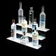 3 Tier LED Lighted Liquor Bottle Display Shelf - Acrylic Base - 2'L