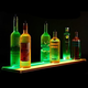 Double Wide LED Lighted Liquor Bottle Display Rail - 7'L