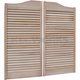 Louvered Exotic Wood Saloon Doors - 36