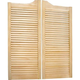 Louvered Solid Pine Saloon Doors - 24