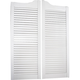 Louvered Solid Pine Saloon Doors - White Finish