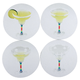 Disappearing Margarita Drink Coasters - Set of 4