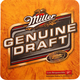 Miller Genuine Draft MGD Beer Coasters - Set of 100
