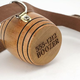 Personalized St. Bernard Dog Collar with Engraved Mini Barrel