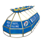 Miller Lite Stained Glass Pool Table Light
