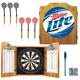Miller Lite Cabinet Dart Board Set