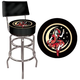Miller High Life Girl In The Moon Padded Bar Stool with Back