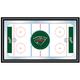 NHL Minnesota Wild Framed Hockey Rink Mirror