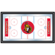 NHL Ottawa Senators Framed Hockey Rink Mirror