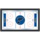 NHL St. Louis Blues Framed Hockey Rink Mirror