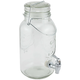 Mason Jar Glass Beverage Dispenser with Wire Handle - 1 Gallon