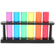 Multicolored Test Tube Shooter Set - 6 Tubes With Stand