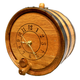 Old English Oak Barrel Wall Clock