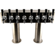 Double Pedestal Draft Beer Tower - Stainless Steel - 4