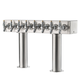 Double Pedestal Draft Beer Tower - Stainless Steel - 3