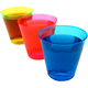 Disposable Colored Plastic Shot Cups - 2 oz - Pack of 50 Cups - Red
