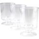 Disposable Plastic Pedestal Wine Glasses - 4 oz