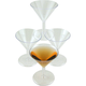 Mini Plastic Martini Glasses - Case of 100
