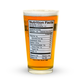 Beer Nutrition Pint Glass - 16 oz