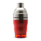3 Piece Cocktail Shaker - Stainless Steel with Red Acrylic Coating - 10 oz