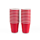Mini Red Cup Disposable Plastic Shot Glasses - 2 oz - Pack of 20