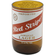 Red Stripe Recycled Beer Bottle Glass - 8 oz