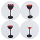 Disappearing Red Wine Drink Coasters - Set of 4