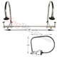 Service Bar Rail - Double Arm - Chrome - 1