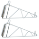 Wall Support Brackets For Wire Shelving - Chrome - Set of 2