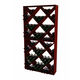 Traditional Redwood Solid Diamond Wine Rack - Holds 132 Bottles