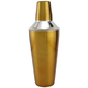 3 Piece Cocktail Shaker - Gold Colored Stainless Steel - 30 oz