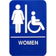 Braille Women Handicap Accessible Restroom Sign