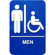 Braille Men Handicap Accessible Restroom Sign