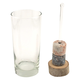 Drink Chilling Swizzle Stick Set with Tumbler & Wood Base