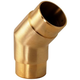 Flush Angle Fitting 135(45) Degree - Brushed (Satin) Brass - 2